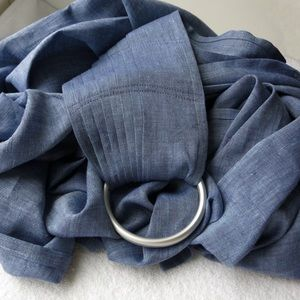 Accessories - Linen baby ring sling carrier - denim